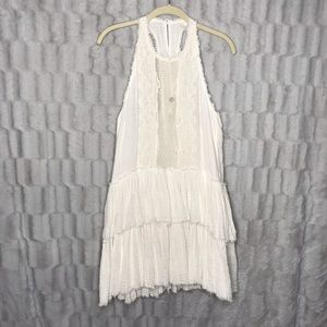 Free People One Halter Back Tiered Ruffle Dress